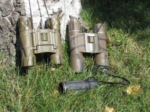 Two Binoculars and a Monoculare